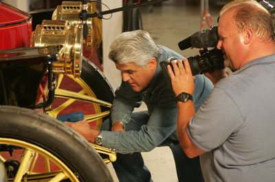 Greg Freeman and Jay Leno